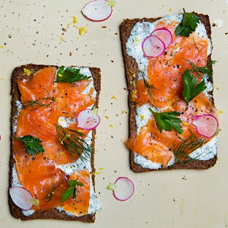 Open-Faced Smoked Salmon Sandwich