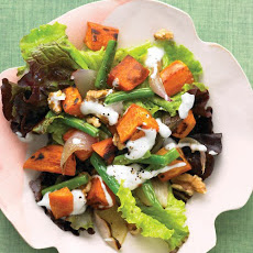 Red-Leaf Salad with Roasted Sweet Potatoes