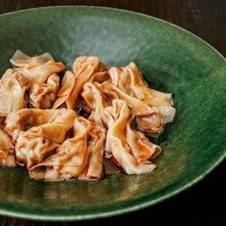 The Slanted Door's Famous Pork-And-Shrimp Wontons With Spicy Chile Oil