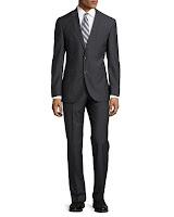 Hugo Boss Keys Graph-Check Two-Piece Suit, Dark Gray - (40R)