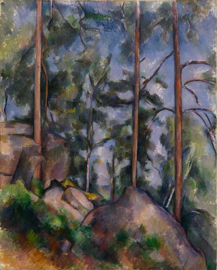 Cézanne Paul, Pini e rocce