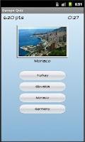 Screenshot of Europe Quiz