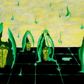 lluvia amarga by Mauricio Silerio - Painting All Painting ( rainning, cascaron, egg shell, teras, lagrimas, rain, lluvia )