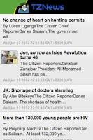 Screenshot of TZNews