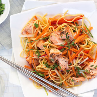 Salmon With Sweet And Sour Noodle Salad