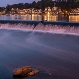 an evening at boathouse row and the spillover by Wayne CF - City,  Street & Park  Historic Districts