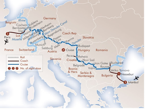 Map Of Europe River
