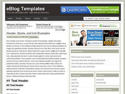 Ads Theme blogger xml template - шаблон для blogspot