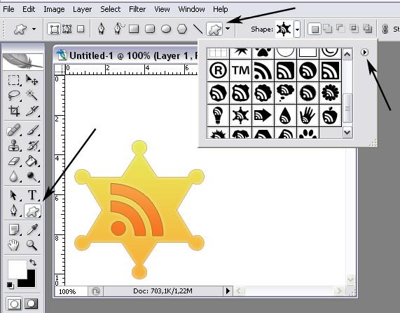 Формы (shapes) для photoshop