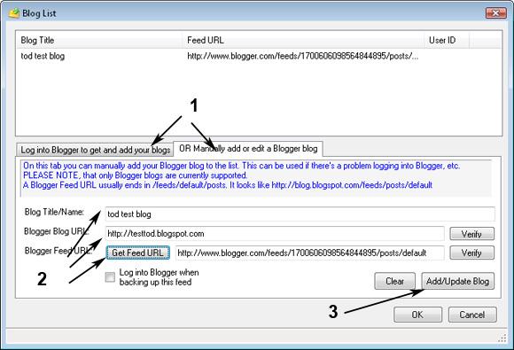 Утилита Blogger Backup