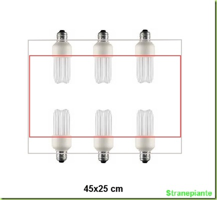 6compatte 90w telaio area illuminata 45x25