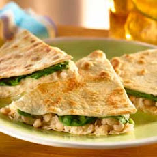 Warm White Bean & Tuna Quesadillas