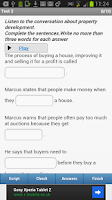 Screenshot of IELTS Listening