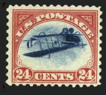 Inverted Jenny, position 5
