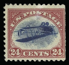 Inverted Jenny, position 40