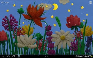 Screenshot of Plasticine Spring flowers LWP