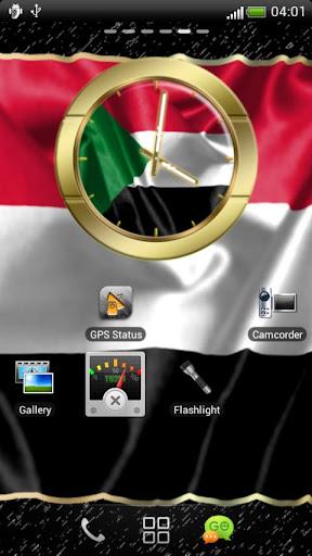 Sudan flag clocks