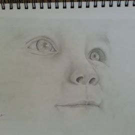 Baby Face by Paula Moore - Drawing All Drawing ( pencil, art, baby, portrait )