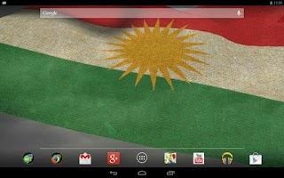 Screenshot of 3D Kurdistan Flag LWP