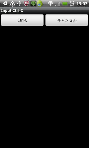 Input Ctrl-C