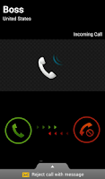 Screenshot of Fake Call