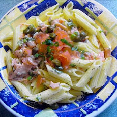 Smoked Salmon and Capers in a Champagne Sauce for Pasta