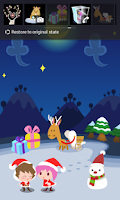 Screenshot of Love in Christmas Locker Theme