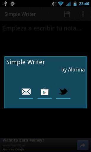 【免費工具App】Simple Writer-APP點子