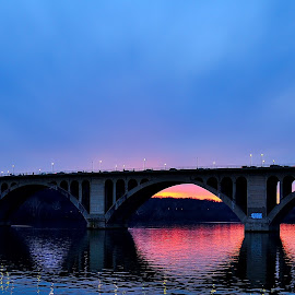 Key Bridge Sunset  by Chakra Winarso - Buildings & Architecture Bridges & Suspended Structures (  )