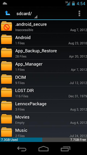 Pure ICS File Manager