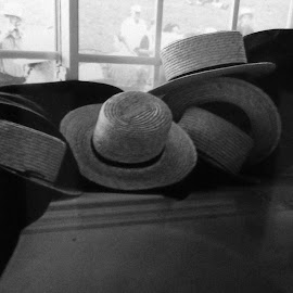 Amish Hats by Anna Tripodi - Artistic Objects Clothing & Accessories ( hats, done, windowseat, day, working,  )