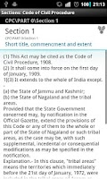 Screenshot of CPC - Code of Civil Procedure