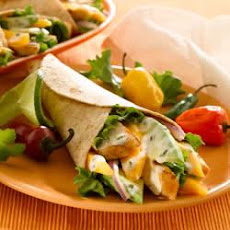 Grilled Chicken and Mango Wraps