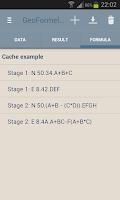 Screenshot of GeoFormel PRO - 4 Geocaching