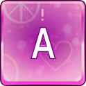 Violet Love Keys Keyboard Skin icon