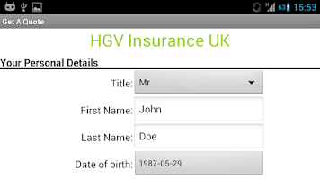 Screenshot of Cheap HGV Insurance Quotes UK