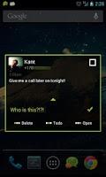 Screenshot of Go SMS Theme Black Minimal