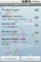 Screenshot of Bubble Live wallpaper(Ad Free)