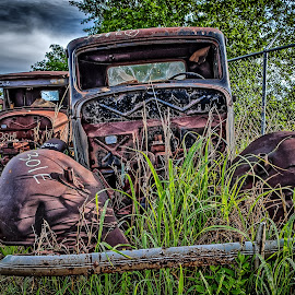 In a Row by Ron Meyers - Transportation Automobiles