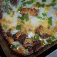 Easy Zucchini and Ground Beef Pizza Casserole