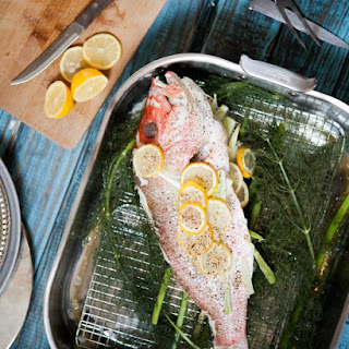 Fennel and Lemon Roasted Whole Red Snapper