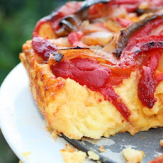 Caramelized Vegetable and Polenta Cake