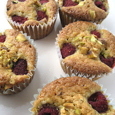 Pistachio and Raspberry Cupcakes, for Gretta