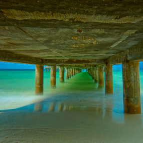 under the bridge ... by Arik S. Mintorogo - Landscapes Beaches