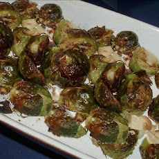 Roasted Brussels Sprouts with Browned Garlic