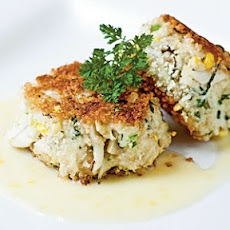 Sweet Corn, Leek, and Basil Crab Cakes