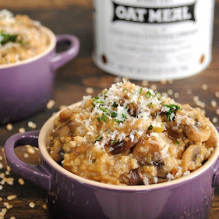 Savory Mushroom and Herb Steel Cut Oat Risotto
