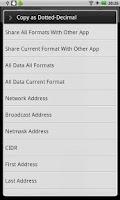 Screenshot of IP Network Calculator