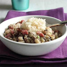 Black-Eyed Peas with Ham and Pickled Onions