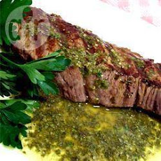 Pepper-Crusted Grill-Roasted Beef with Rosemary Chimichurri Recipe ...